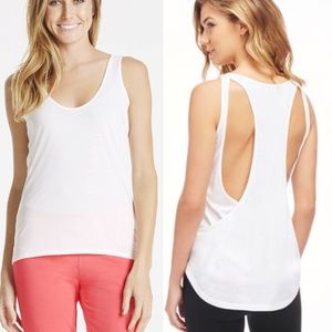 Fabletics Tops - Fabletics white workout sol tank top